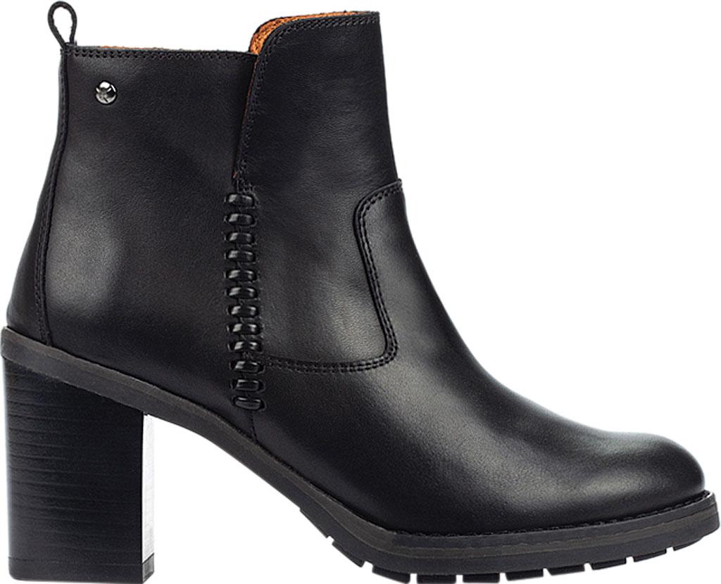 Women's Pikolinos Pompeya Ankle Bootie W9T-8594, Black Calfskin Leather, large, image 2