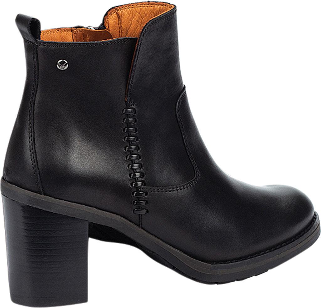 Women's Pikolinos Pompeya Ankle Bootie W9T-8594, Black Calfskin Leather, large, image 3
