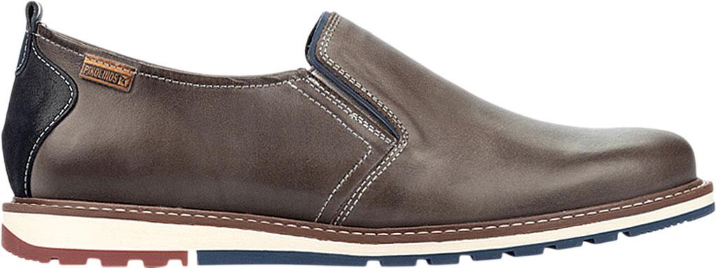 Men's Pikolinos Berna Slip On M8J-3184, Dark Grey Calfskin Leather, large, image 2