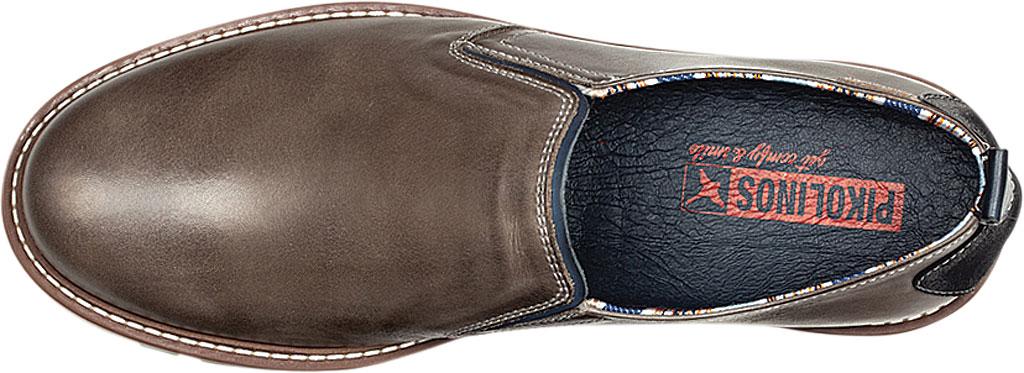 Men's Pikolinos Berna Slip On M8J-3184, Dark Grey Calfskin Leather, large, image 4