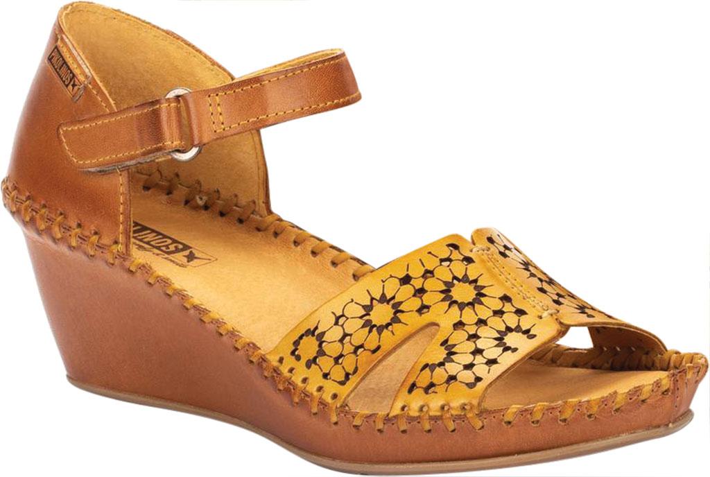 Women's Pikolinos Margarita Wedge Sandal 943-1691C1, Honey Calfskin, large, image 1