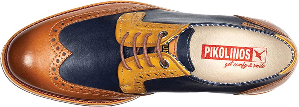 Men's Pikolinos Arona Wing Tip Oxford M5R-4373C1, Brandy Calfskin, large, image 4