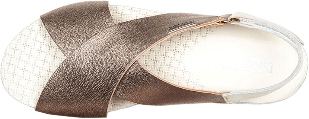 Women's Pikolinos Mahon Wedge Slingback Sandal W9E-0912, Stone Metallic Calfskin, large, image 4