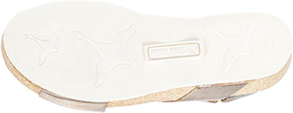 Women's Pikolinos Mahon Wedge Slingback Sandal W9E-0912, Stone Metallic Calfskin, large, image 5