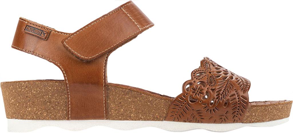 Women's Pikolinos Mahon Perforated Wedge Sandal W9E-0910, Brandy Calfskin, large, image 2