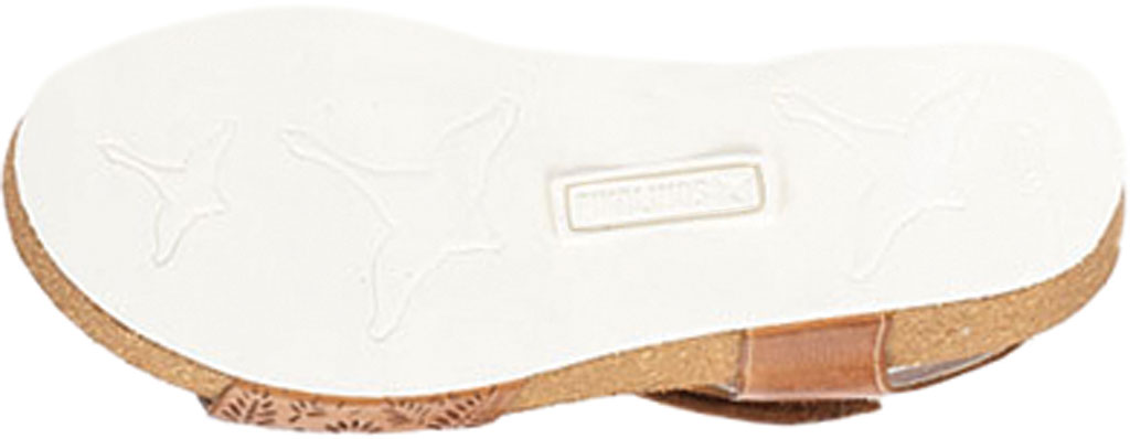 Women's Pikolinos Mahon Perforated Wedge Sandal W9E-0910, Brandy Calfskin, large, image 5