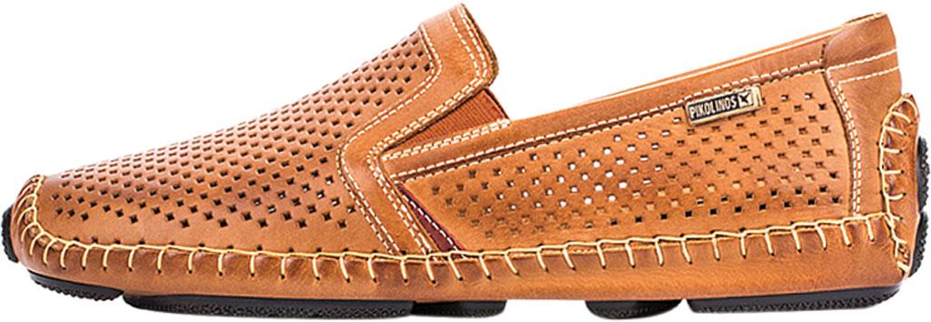 Men's Pikolinos Jerez Perforated Loafer 09Z-3100, Brandy Calfskin, large, image 3