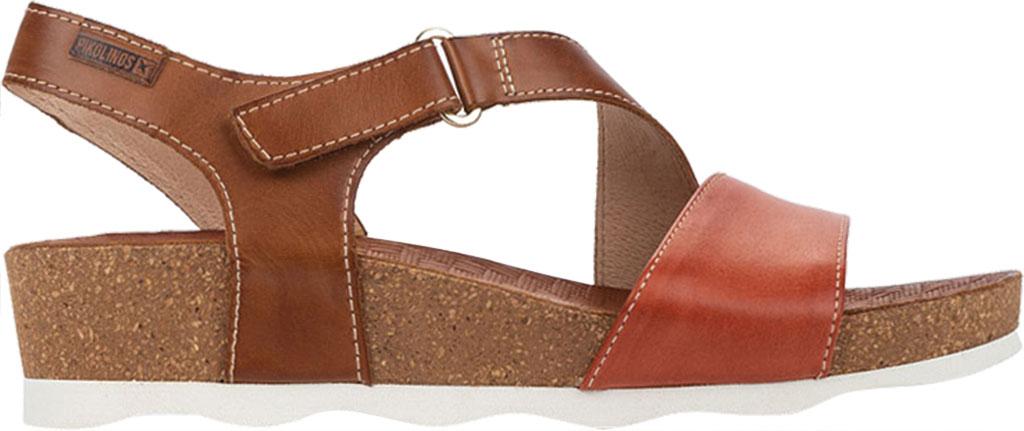 Women's Pikolinos Mahon Wedge Sandal W9E-0833C1, Scarlet Calfskin, large, image 2