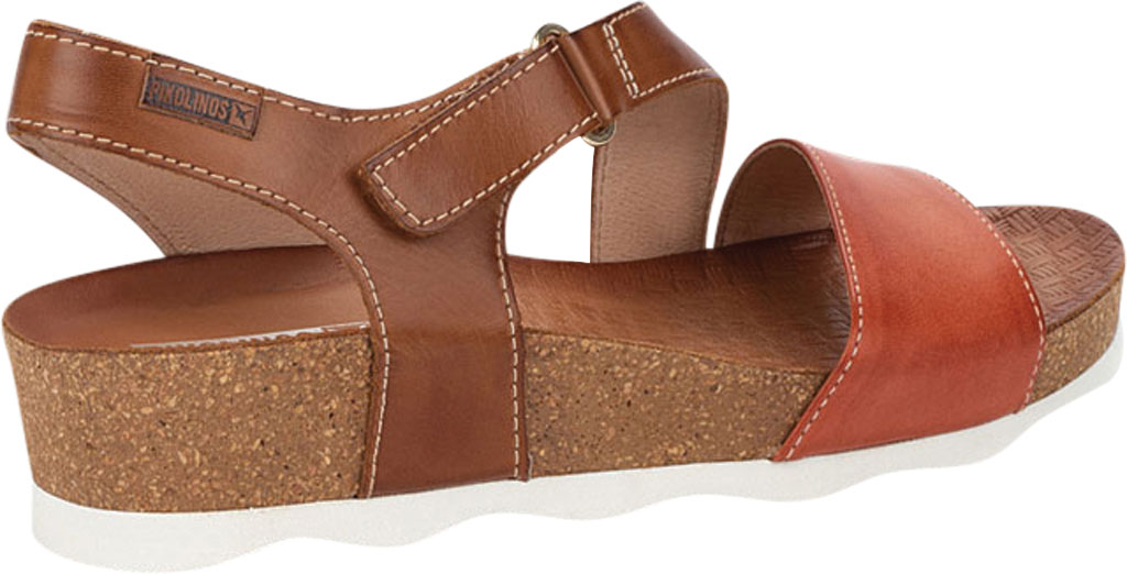 Women's Pikolinos Mahon Wedge Sandal W9E-0833C1, Scarlet Calfskin, large, image 3