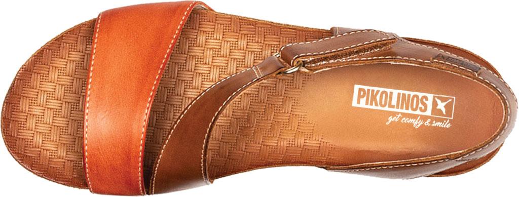 Women's Pikolinos Mahon Wedge Sandal W9E-0833C1, Scarlet Calfskin, large, image 4