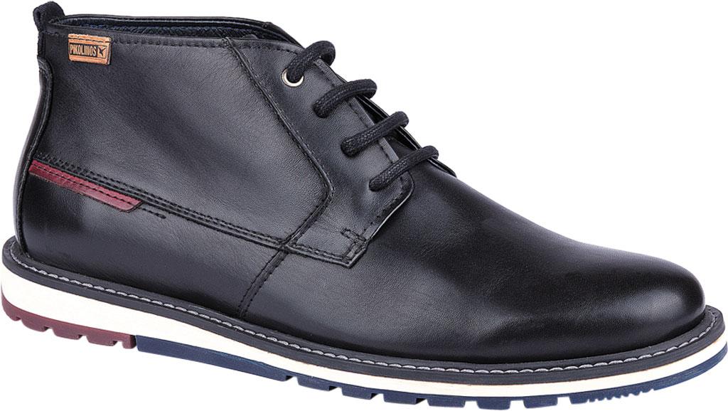 Men's Pikolinos Berna Ankle Boot M8J-8198, Black Calfskin Leather, large, image 1