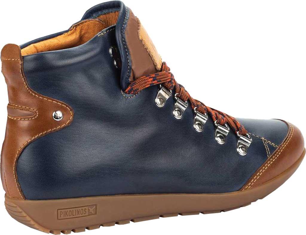 Women's Pikolinos Lisboa Ankle Boot W67-7667C7, Blue Calfskin Leather, large, image 3