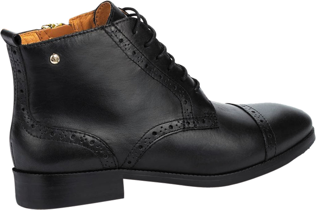 Women's Pikolinos Royal Cap Toe Ankle Boot W4D-8717, Black Calfskin Leather, large, image 3