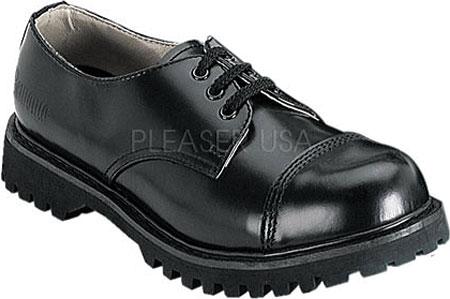 Men's Demonia Rocky 03, Black Leather, large, image 1