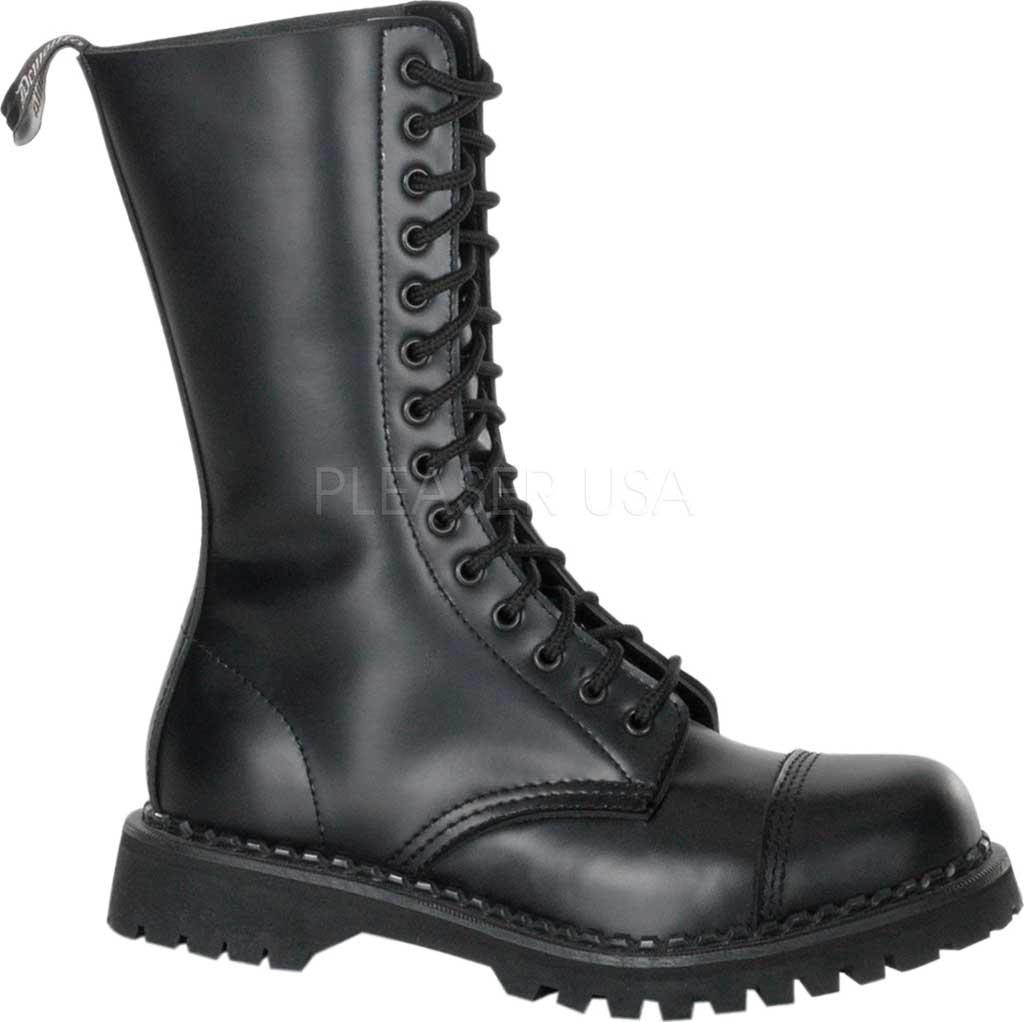 Men's Demonia Rocky 14, Black Leather, large, image 1
