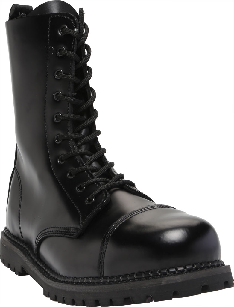 Men's Demonia Rocky 10, Black Leather, large, image 1