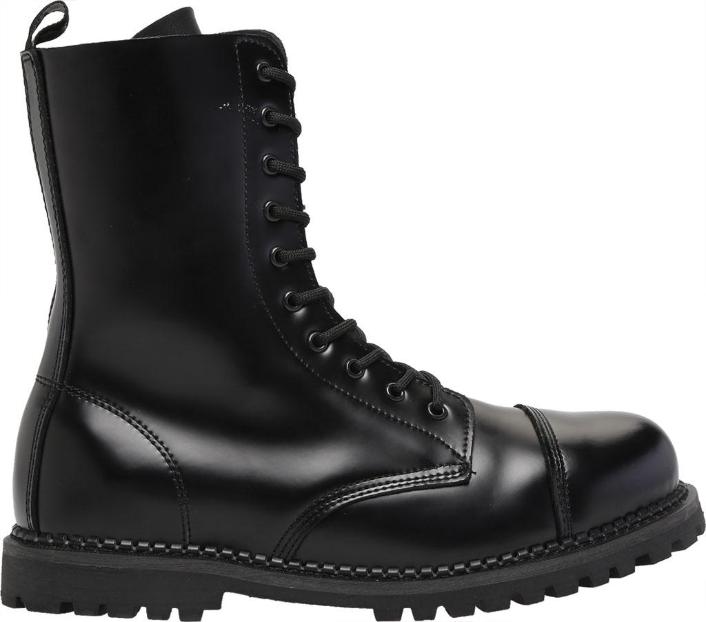 Men's Demonia Rocky 10, Black Leather, large, image 2