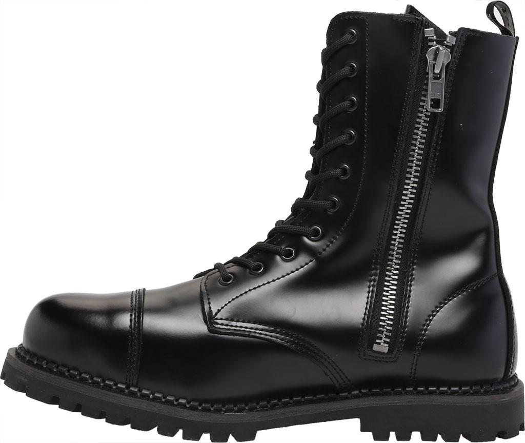 Men's Demonia Rocky 10, Black Leather, large, image 3