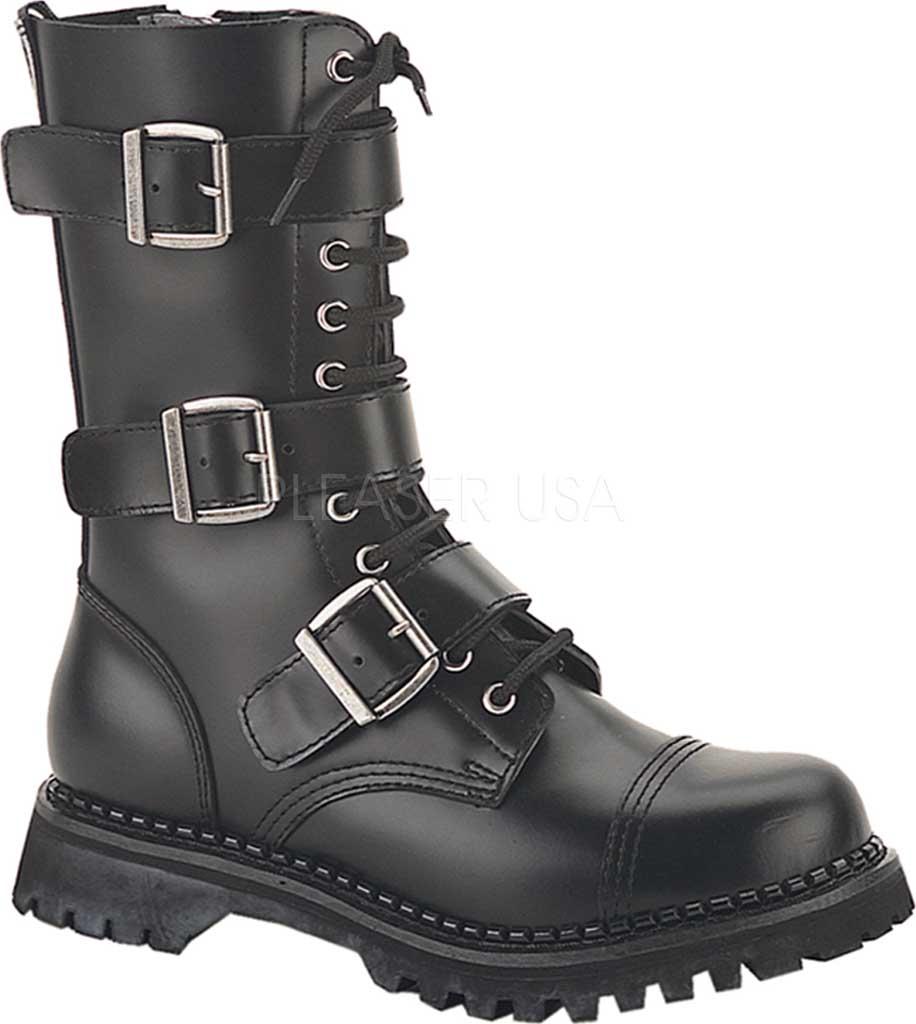 Men's Demonia Riot 20, Black Leather, large, image 1