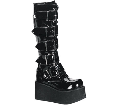 Men's Demonia Trashville 518, Black Patent, large, image 1