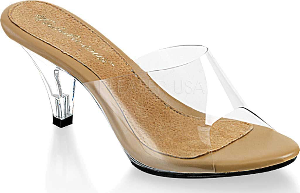 Women's Fabulicious Belle 301, Clear/Tan/Clear, large, image 1