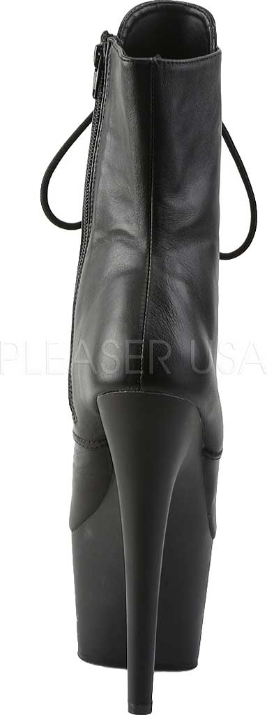 Women's Pleaser Adore 1020 Ankle Boot, Black Faux Leather/Black Matte PU, large, image 4