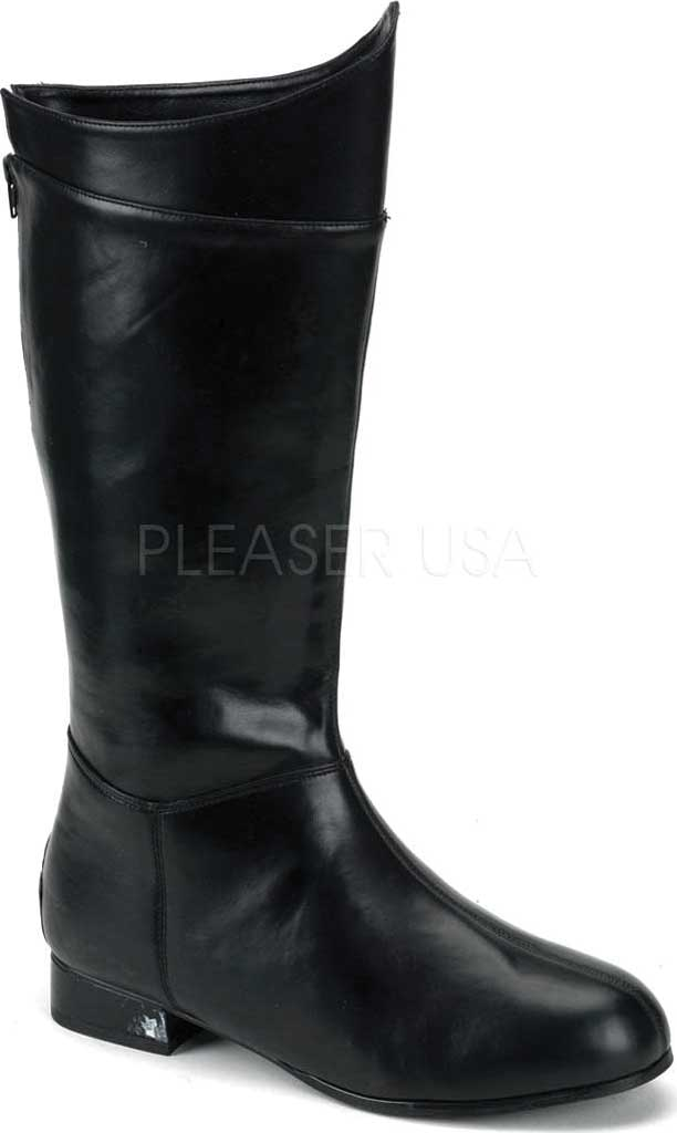 Men's Funtasma Hero 100 Knee High Boot, Black PU, large, image 1