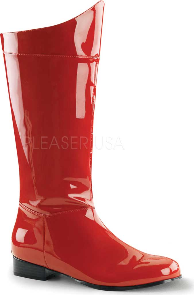 Men's Funtasma Hero 100 Knee High Boot, Red Patent, large, image 1