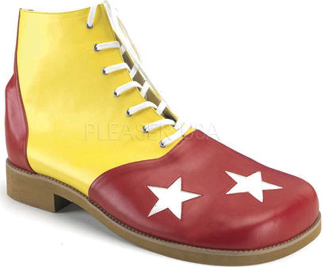 Men's Funtasma Clown 02, Yellow/Red PU, large, image 1