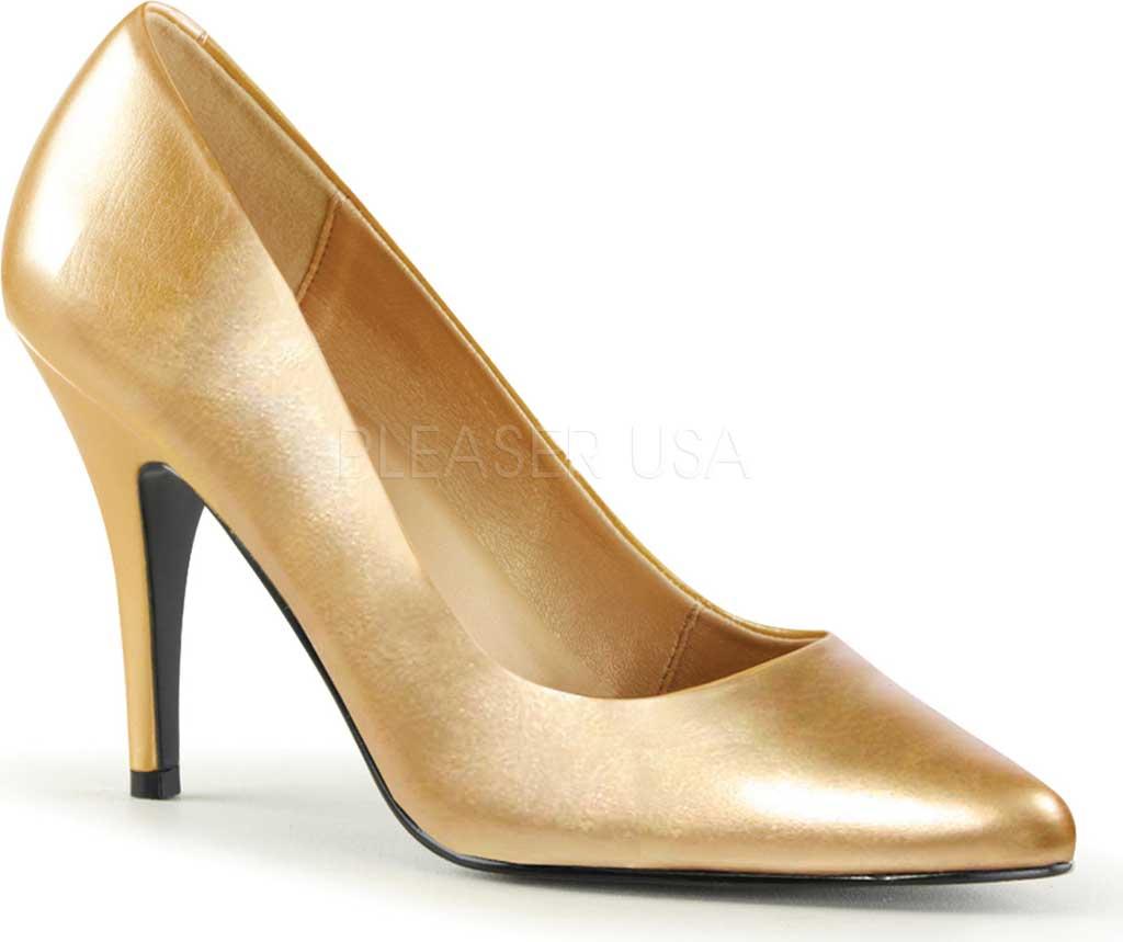 Women's Pleaser Vanity 420, Gold PU, large, image 1