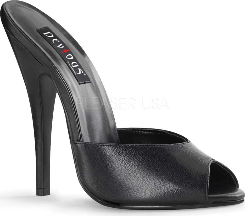 Women's Pleaser Domina 101, Black Leather, large, image 1
