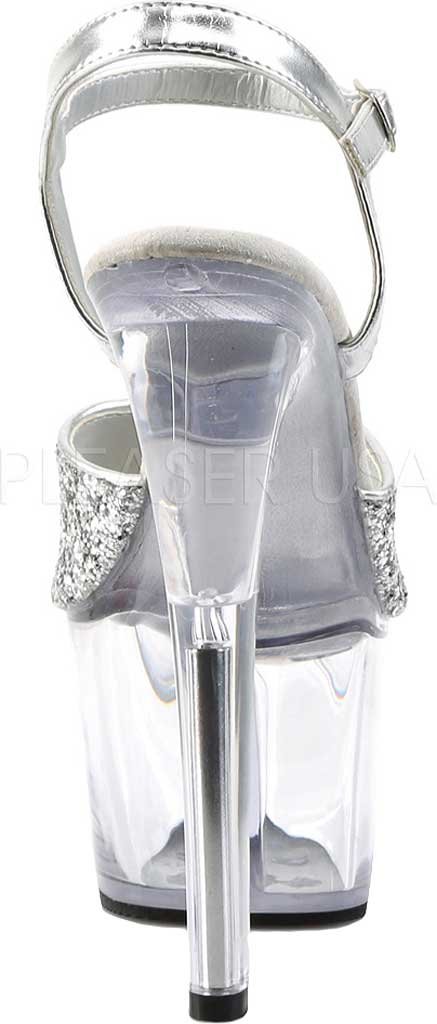 Women's Pleaser Sky 310, Silver Glitter/Clear, large, image 4