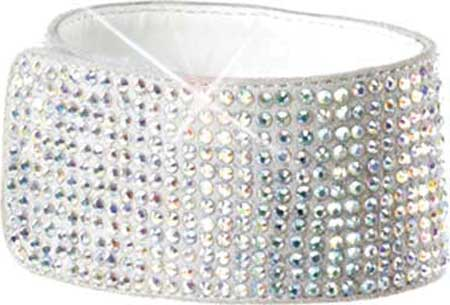 Women's Pleaser Bejeweled 712RS, Clear/Silver Multi Rhinestones, large, image 2
