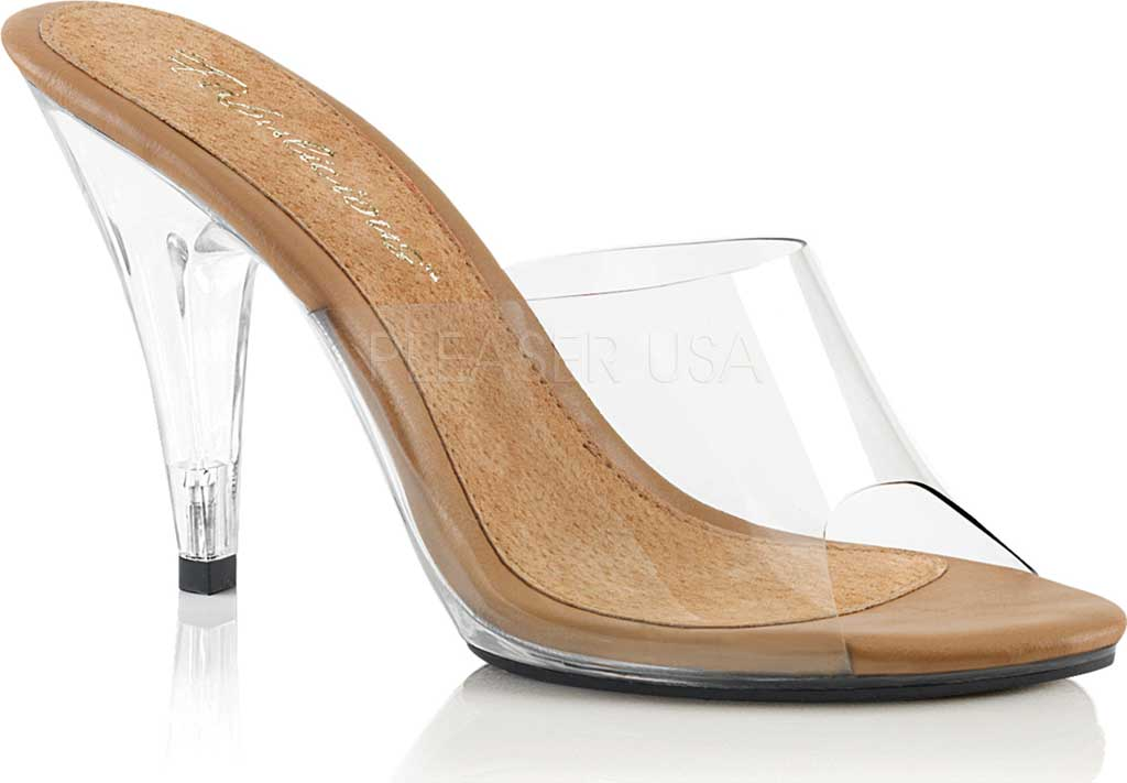 Women's Fabulicious Caress 401, Clear/Tan/Clear, large, image 1