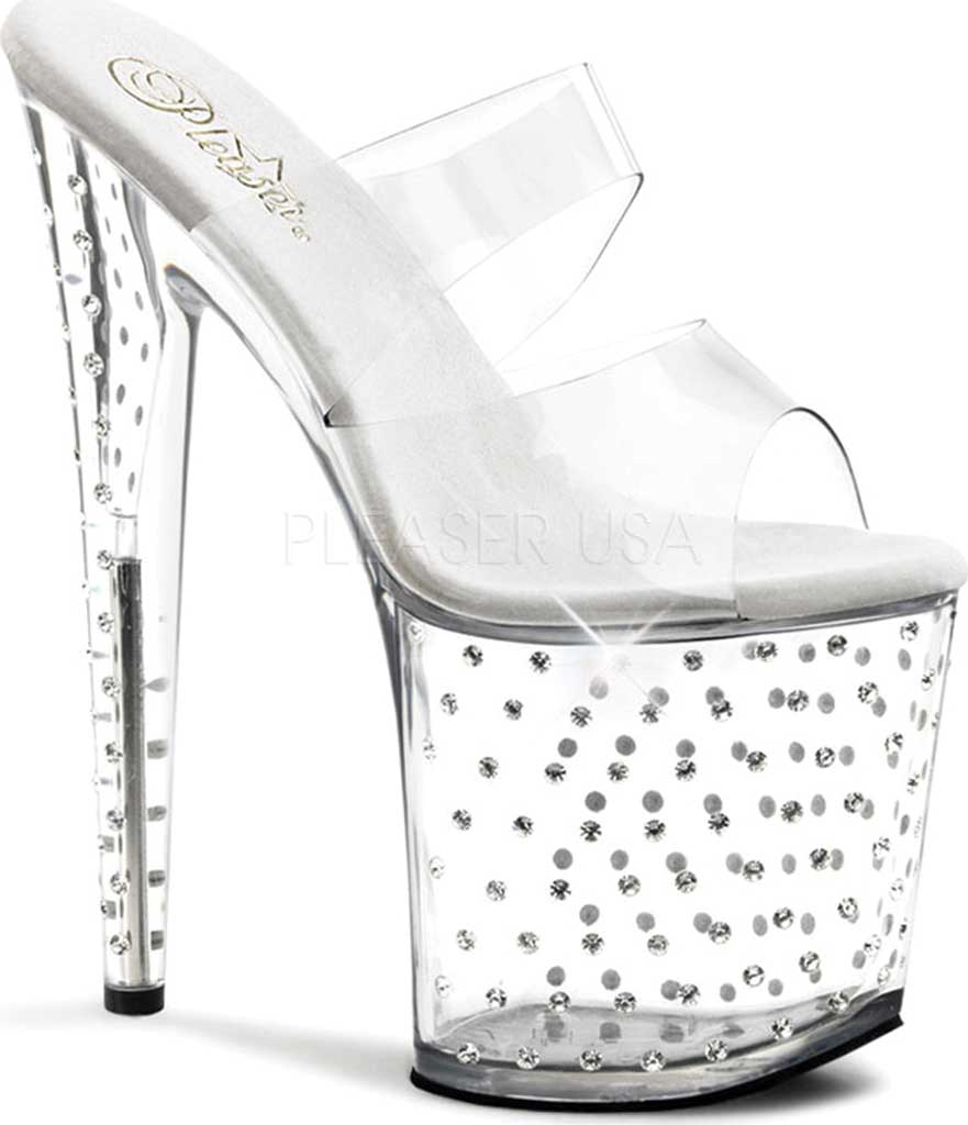 Women's Pleaser Stardust 802, Clear/Clear, large, image 1