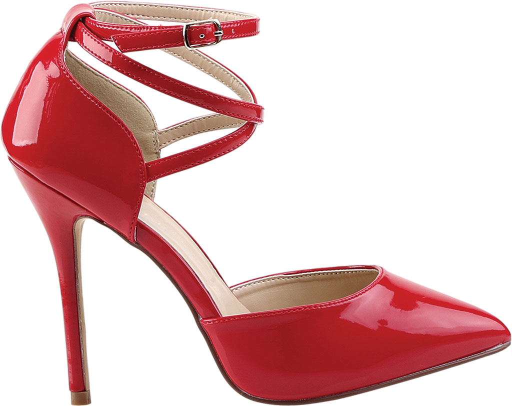 Women's Pleaser Amuse 25, Red Patent, large, image 2