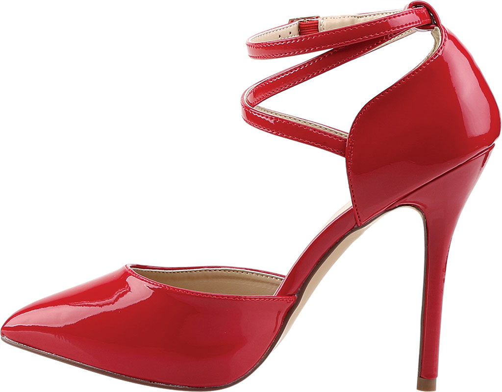 Women's Pleaser Amuse 25, Red Patent, large, image 3