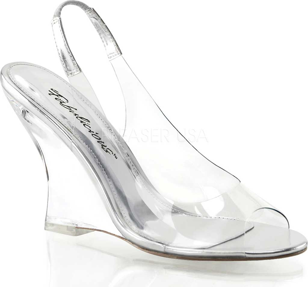 Women's Fabulicious Lovely 450, Clear/Silver/Clear, large, image 1