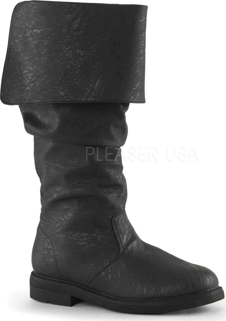 Men's Funtasma Robinhood 100 Boot, Black Distressed PU, large, image 1