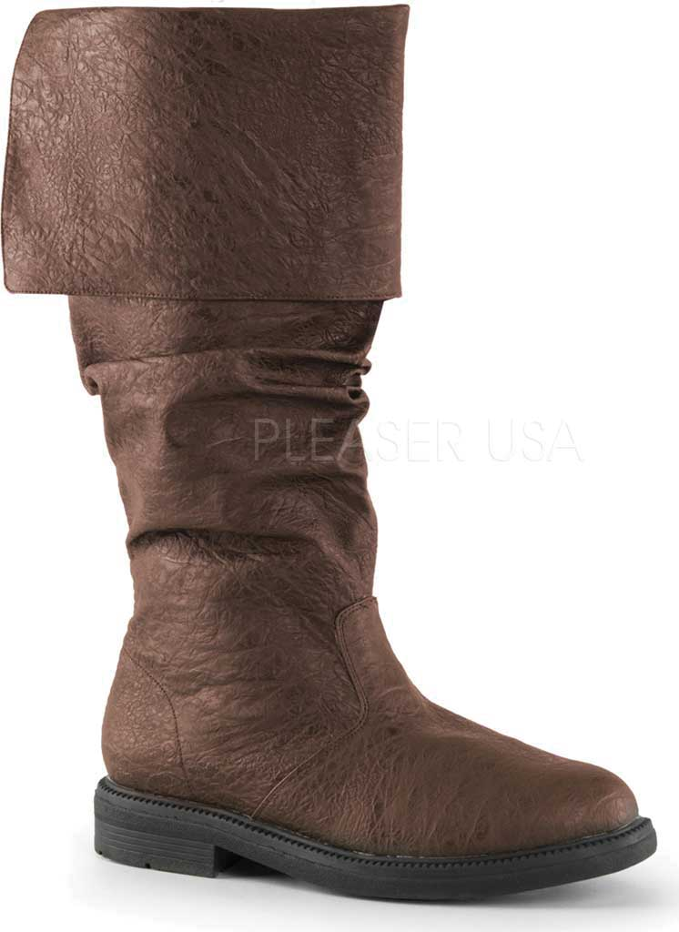 Men's Funtasma Robinhood 100 Boot, Brown Distressed PU, large, image 1