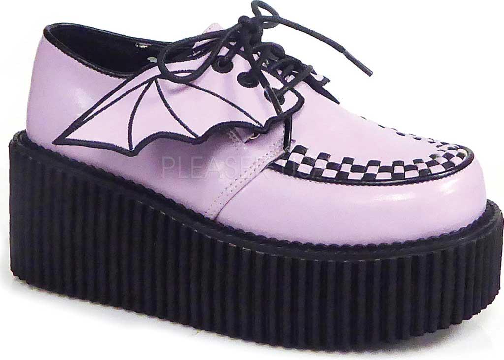 Women's Demonia Creeper 205 Creeper, Lavender Vegan Leather, large, image 1