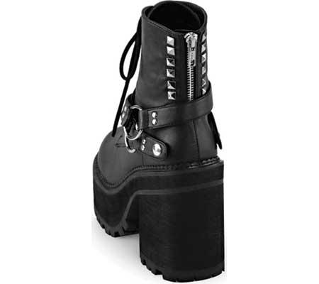 Women's Demonia Assault 101 Ankle Boot, Black Vegan Leather, large, image 3
