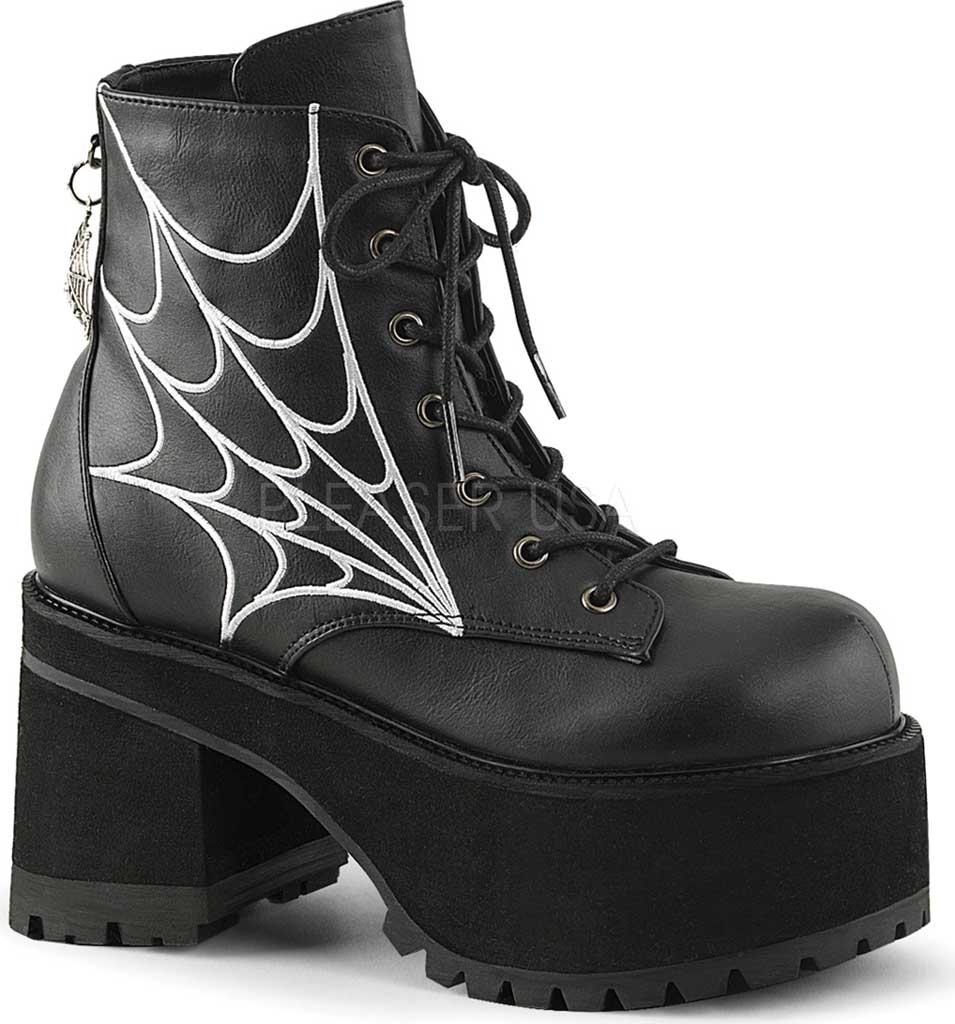Women's Demonia Ranger 105 Ankle Boot, Black Vegan Leather, large, image 1