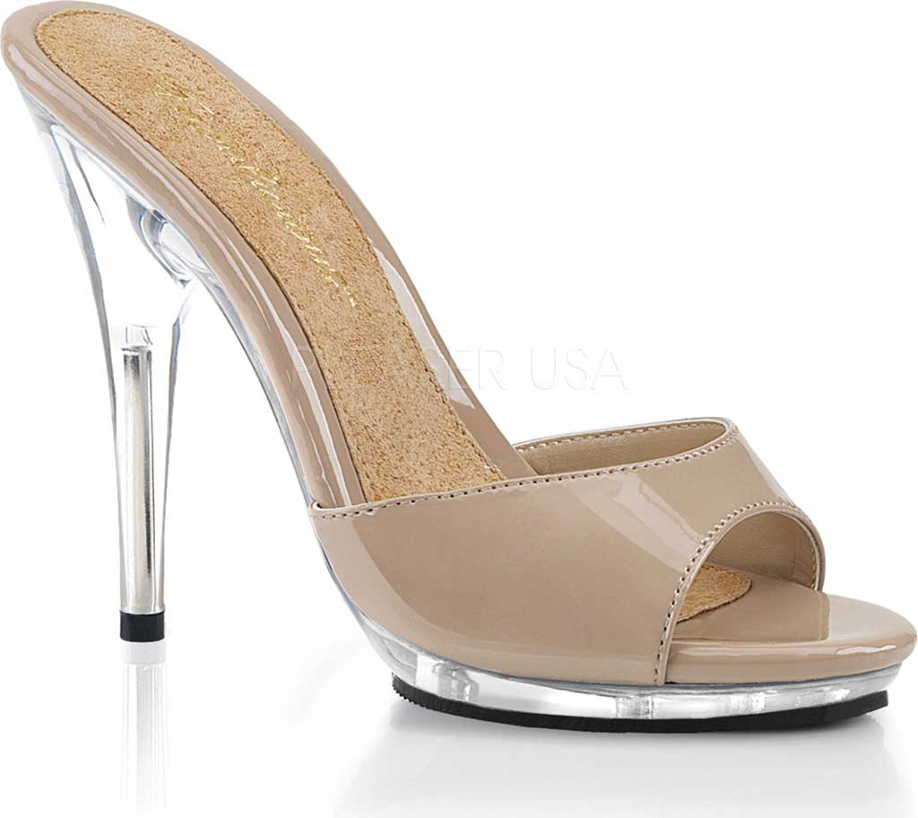 Women's Fabulicious Poise 501 Slide, Nude Patent/Clear, large, image 1