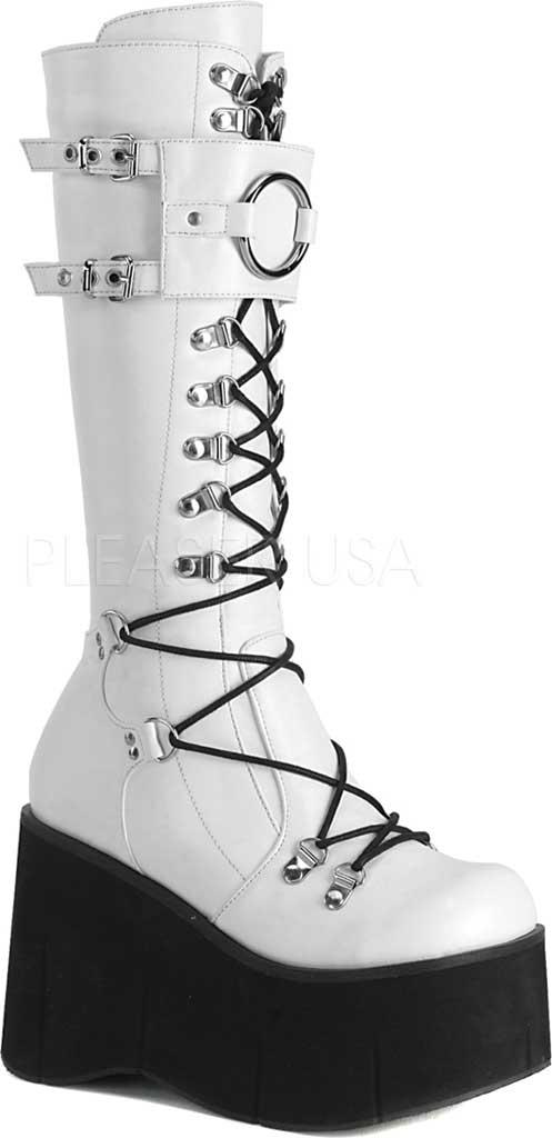 Women's Demonia Kera 200 Platform Boot, White Vegan Leather, large, image 1