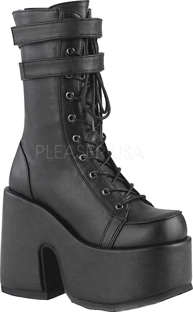 Women's Demonia Camel 250 Platform Boot, Black Vegan Leather, large, image 1
