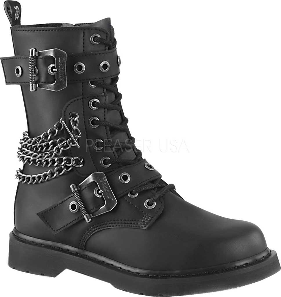 Men's Demonia Bolt 250 Combat Boot, Black Vegan Leather, large, image 1
