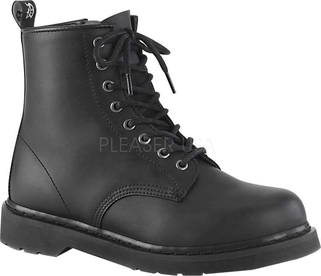 Demonia Bolt 100 Ankle Boot, Black Vegan Leather, large, image 1