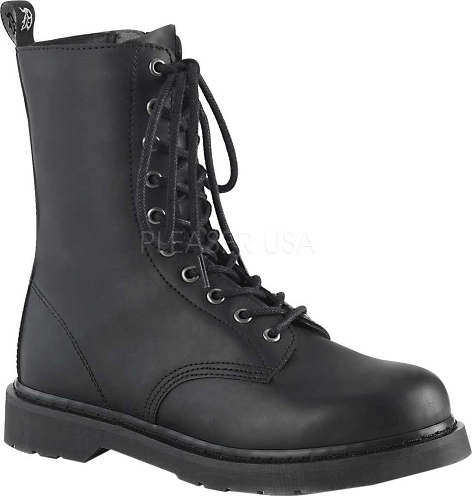 Demonia Bolt 200 Mid Calf Boot, Black Vegan Leather, large, image 1