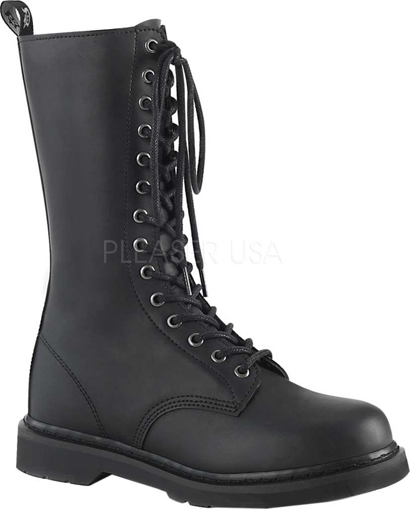 Demonia Bolt 300 Mid Calf Boot, Black Vegan Leather, large, image 1